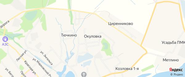 Карта деревни Окуловки города Сольвычегодска в Архангельской области с улицами и номерами домов
