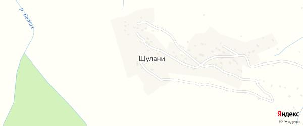 Шуланинская улица на карте села Щулани с номерами домов