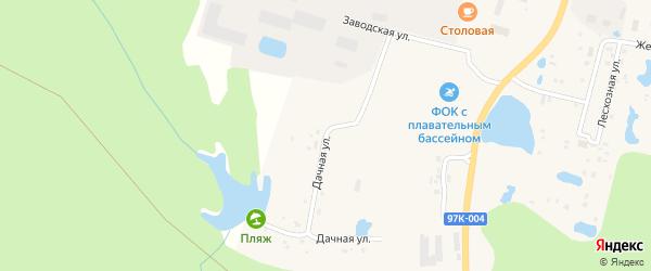 Дачная улица на карте поселка Вурнары Чувашии с номерами домов