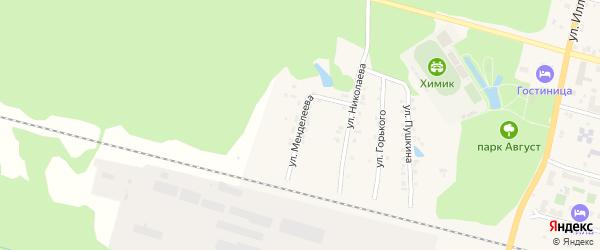 Улица Менделеева на карте поселка Вурнары Чувашии с номерами домов