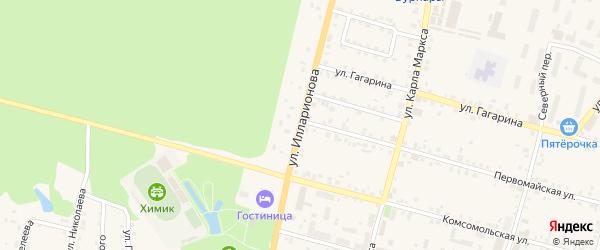 Улица Илларионова на карте поселка Вурнары Чувашии с номерами домов