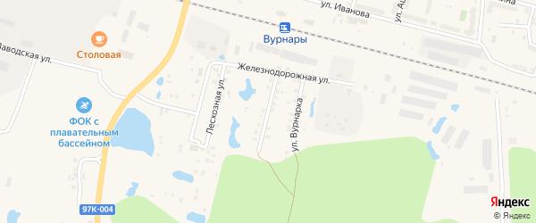 Владимирская улица на карте поселка Вурнары Чувашии с номерами домов