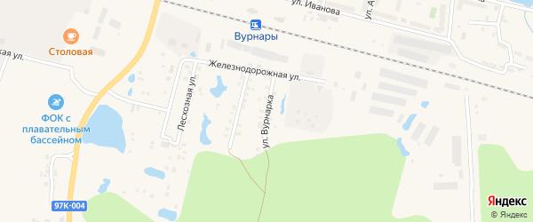 Улица Вурнарка на карте поселка Вурнары Чувашии с номерами домов
