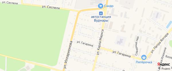 Лесная улица на карте поселка Вурнары Чувашии с номерами домов