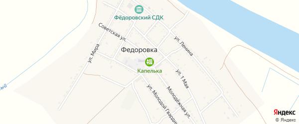 Улица Комплекс на карте села Федоровки Астраханской области с номерами домов