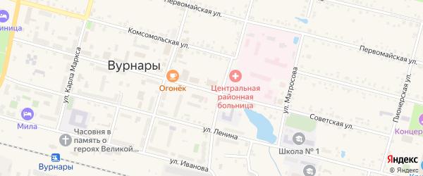 Университетская улица на карте поселка Вурнары Чувашии с номерами домов