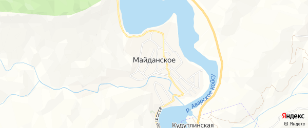 Карта Майданского села в Дагестане с улицами и номерами домов