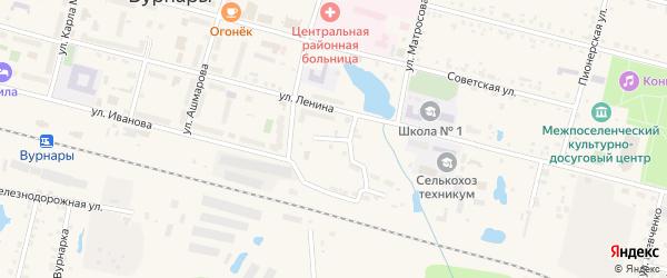 Школьный переулок на карте поселка Вурнары с номерами домов