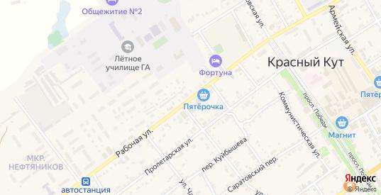 Рабочая улица в Красном Куте с номерами домов на карте. Спутник и схема онлайн