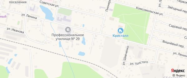 Банный переулок на карте поселка Вурнары Чувашии с номерами домов