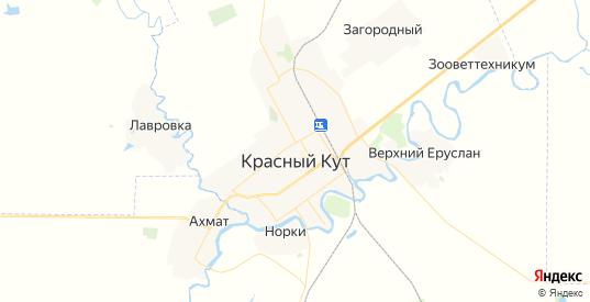 Карта Красного Кута с улицами и домами подробная. Показать со спутника номера домов онлайн