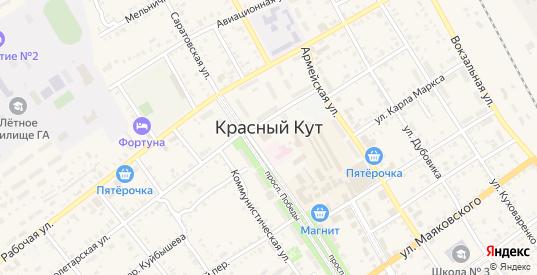 Тупой переулок в Красном Куте с номерами домов на карте. Спутник и схема онлайн