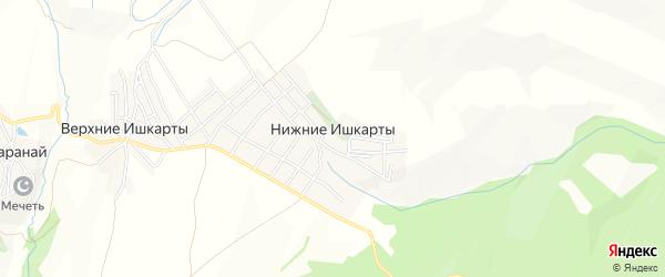 Карта села Нижнего Ишкарты в Дагестане с улицами и номерами домов