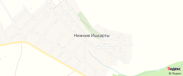 Улица им Мустапы Хадижат на карте села Нижнего Ишкарты с номерами домов