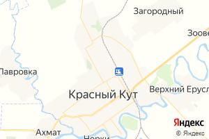 Карта г. Красный Кут