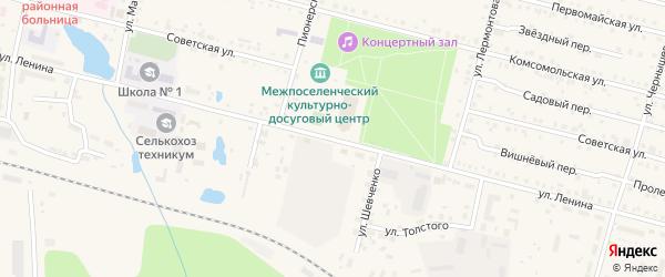Улица Ленина на карте поселка Вурнары Чувашии с номерами домов