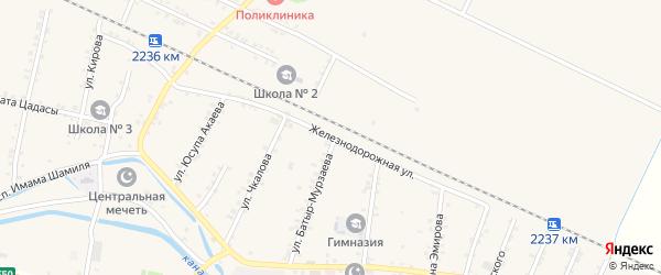 Железнодорожная улица на карте Стальского села с номерами домов
