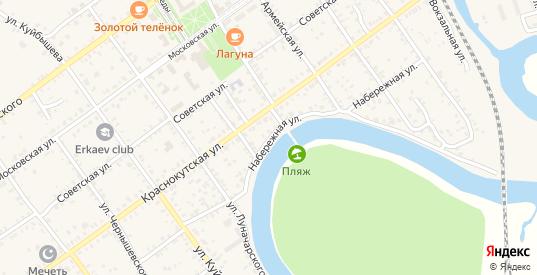 Набережная улица в Красном Куте с номерами домов на карте. Спутник и схема онлайн