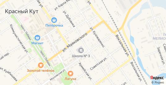 Улица им Дубовика в Красном Куте с номерами домов на карте. Спутник и схема онлайн
