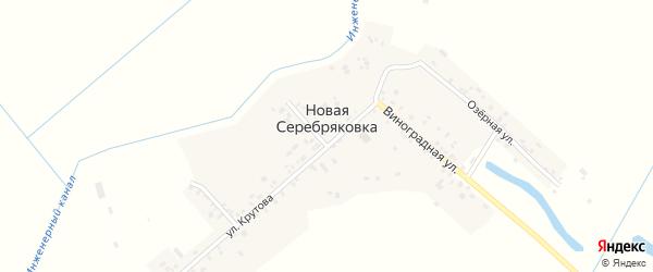 Виноградная улица на карте села Новой Серебряковки Дагестана с номерами домов