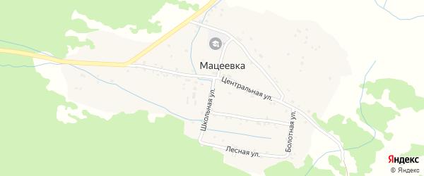 Школьная улица на карте села Мацеевки с номерами домов