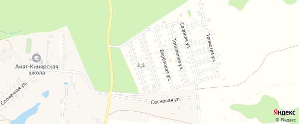 Яблоневая улица на карте деревни Малого Сундыря Чувашии с номерами домов