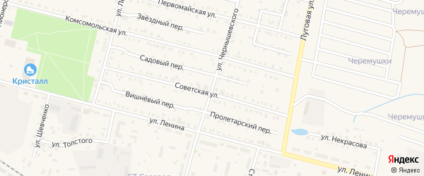 Улица Чернышевского на карте поселка Вурнары Чувашии с номерами домов