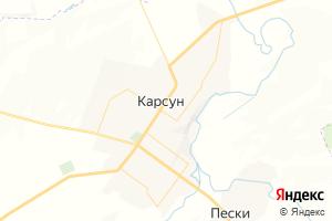 Карта пгт Карсун Ульяновская область