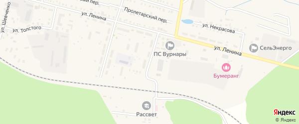 Строительная улица на карте поселка Вурнары Чувашии с номерами домов