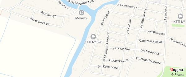 Береговая улица на карте села Сасыколи Астраханской области с номерами домов