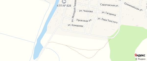 Аэродромная улица на карте села Сасыколи Астраханской области с номерами домов