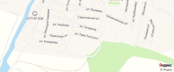 Улица Толстого на карте села Сасыколи Астраханской области с номерами домов