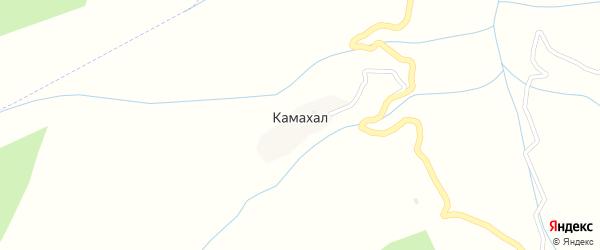 Центральная улица на карте села Камахала Дагестана с номерами домов