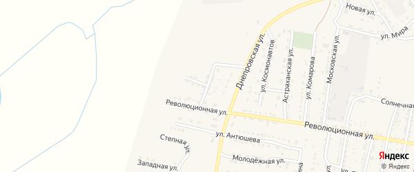 Революционный переулок на карте села Енотаевки с номерами домов