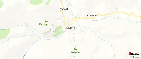 Карта села Мукара в Дагестане с улицами и номерами домов