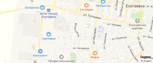 Волжская улица на карте села Енотаевки с номерами домов