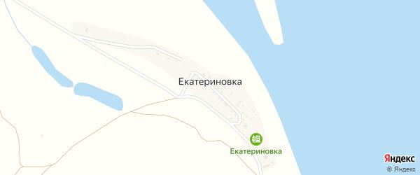 Улица Кирова на карте села Екатериновки Астраханской области с номерами домов