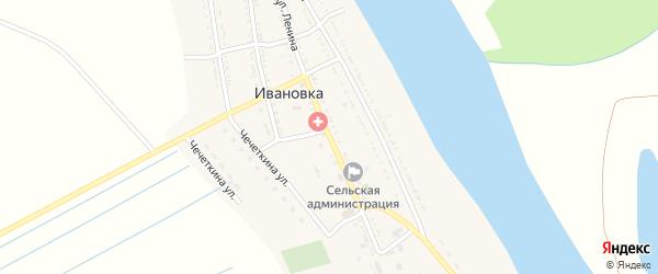 Улица Ленина на карте села Сероглазки Астраханской области с номерами домов