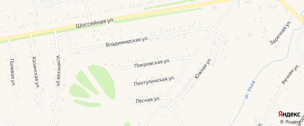 Покровская улица на карте села Ишлеи Чувашии с номерами домов