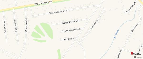 Пихтулинская улица на карте села Ишлеи с номерами домов