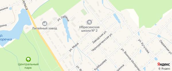 Улица Мира на карте поселка Ибреси с номерами домов