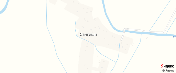 Улица Джанибекова на карте села Сангиши Дагестана с номерами домов