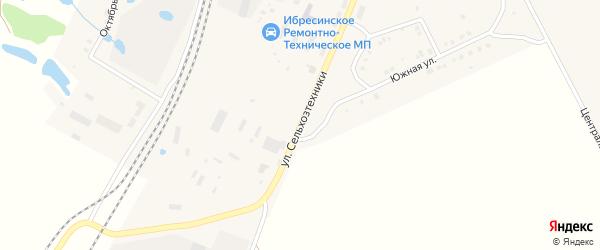 Улица Сельхозтехники на карте поселка Ибреси с номерами домов