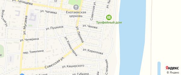 Рабочая улица на карте села Енотаевки Астраханской области с номерами домов