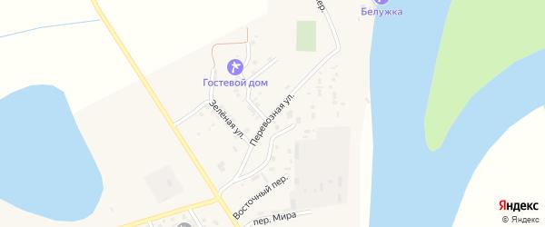 Перевозная улица на карте села Енотаевки Астраханской области с номерами домов