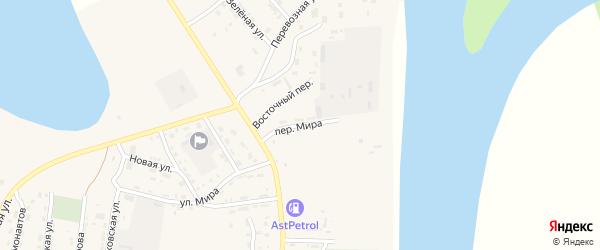 Переулок Мира на карте села Енотаевки Астраханской области с номерами домов