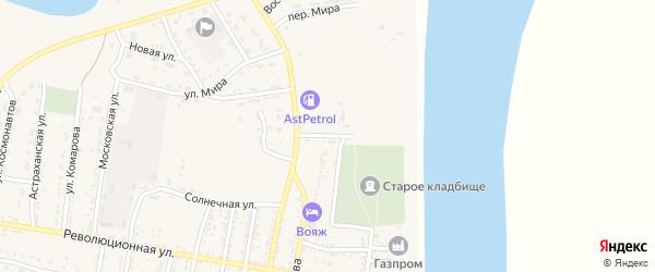 Улица Нефтяников на карте села Енотаевки Астраханской области с номерами домов