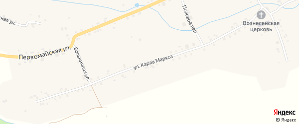 Улица Карла Маркса на карте села Старые Айбеси с номерами домов