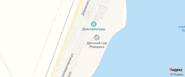 Луговая улица на карте села Зензели Астраханской области с номерами домов