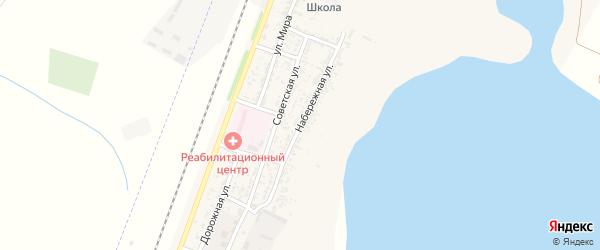 Набережная улица на карте села Зензели Астраханской области с номерами домов